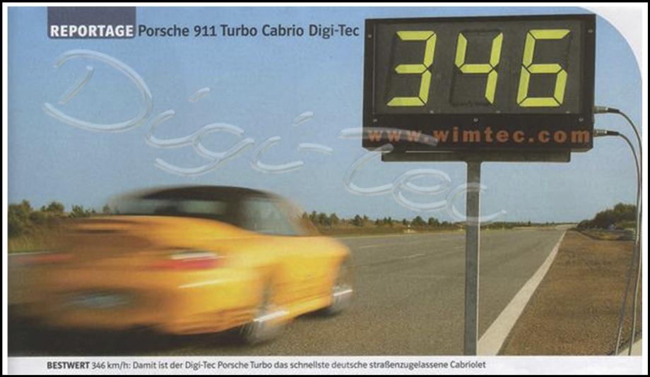 Porsche 996 Turbo 346Km/h Digi-Tec