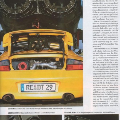 Reportaje Porsche 996 Turbo Digi-Tec 346Km/h